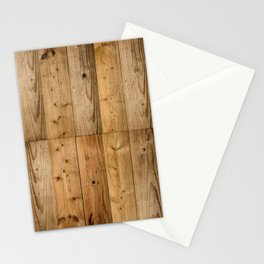 Wood Planks Dark Stationery Cards
