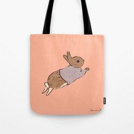 Jumping Bunny Tote Bag