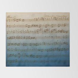 Handwritten Mozart Throw Blanket
