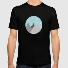 The Mountains are Calling and I must go Black MEDIUM Mens Fitted Tee