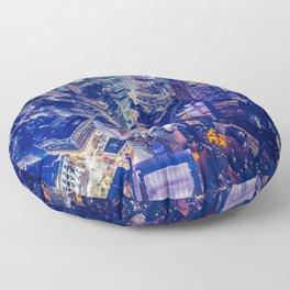 New York city night color Floor Pillow