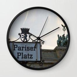 Brandenburger Tor at Pariser Platz Berlin Wall Clock