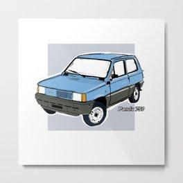 Fiat Panda 750 Blue Metal Print