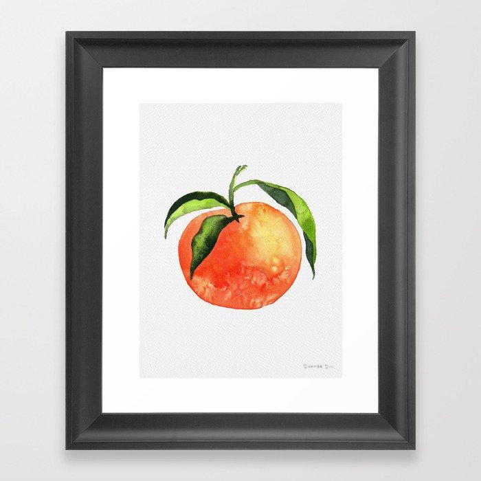 Orange Gerahmter Kunstdruck