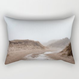 Photo of National Park the Slufter covered in fog I | A journey around Wadden Island Texel Rectangular Pillow