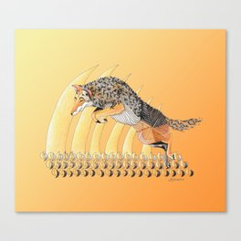 Coyote Totem Canvas Print