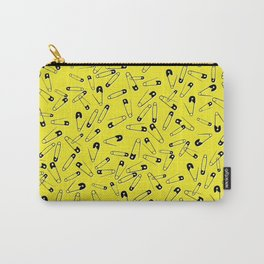 Yellow Safety pins glam pattern Carry-All Pouch