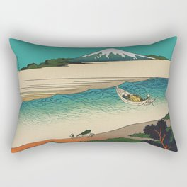 Tama River and Mount Fuji Rectangular Pillow