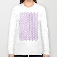 herringbone Long Sleeve T-shirts featuring Herringbone Orchid by Project M