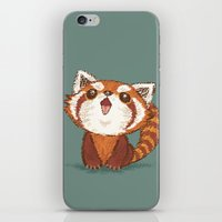 red panda iPhone & iPod Skins featuring Red panda by Toru Sanogawa