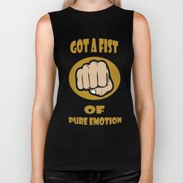 Fist of pure emotion  Biker Tank