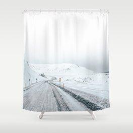 Icelandic coast Shower Curtain