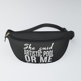 Artistic Pool funny sports gift Fanny Pack