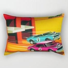 Vintage Hot Wheels Redline Dual-Lane Rod Runner Racing Poster Trade Print Rectangular Pillow