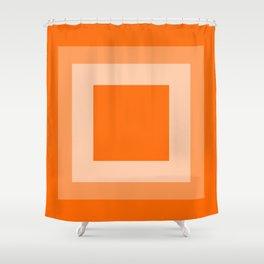 Orange Square Design Shower Curtain
