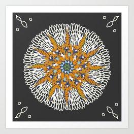 Crotchet Mandala Art Print