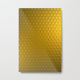 Golden honeycomb pattern Metal Print
