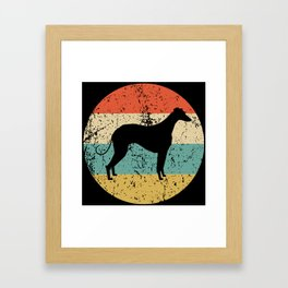 Greyhound Vintage Retro Greyhound Dog Framed Art Print