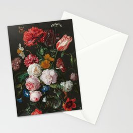 Still Life with Flowers by Jan Davidsz. de Heem Stationery Cards