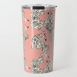 Pink Tiger Pattern 006 Travel Mug
