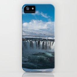 Iceland Goðafoss Island Snow Ice Lake iPhone Case