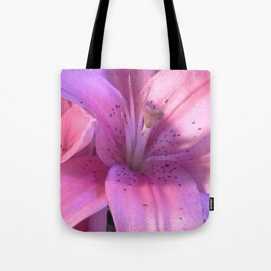 Lily: A Closeup Tote Bag
