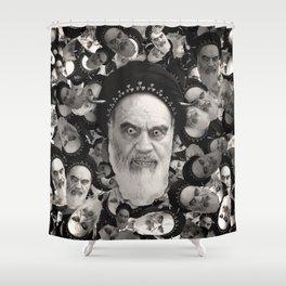 Horned Ayatollah Monsters Shower Curtain
