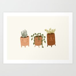 Little Face Vases Art Print