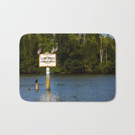 Manatee Zone Bath Mat