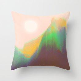 Mountain Heat Throw Pillow