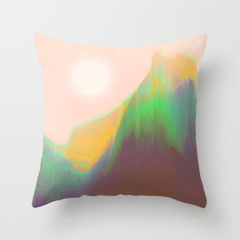 Mountain Heat Throw Pillow