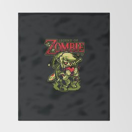 Legend of Zombie Throw Blanket