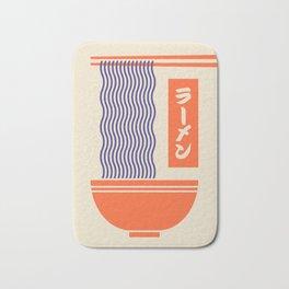 Ramen Japanese Food Noodle Bowl Chopsticks - Cream Bath Mat
