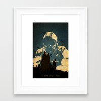 bane Framed Art Prints featuring Bane  by Edmond Lim