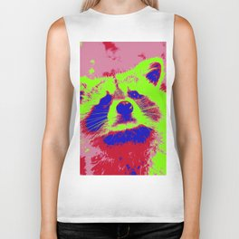 Pop Art Raccoon Biker Tank