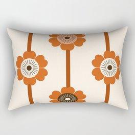 Foxy - 70s style throwback retro flowers floral pattern minimal decor art 1970's Rectangular Pillow