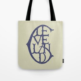 Vintage Cleveland Typography (Light) Tote Bag