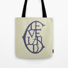 Vintage Cleveland Typography (Light) Tote Bag