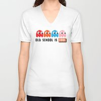 pacman V-neck T-shirts featuring Pacman by PixelPower