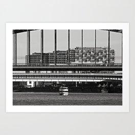 Under the bridge - Cologne, Germany Art Print