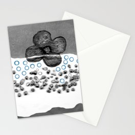 Flower in white Stationery Cards