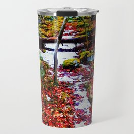 A Path in a Forest Travel Mug