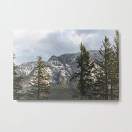 Mountains Through The Forest - Nature Photography Metal Print