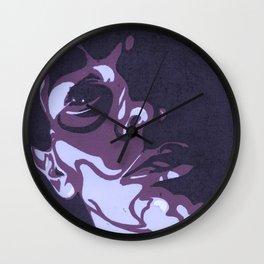 Violet Resting Bitch Face Portrait Wall Clock