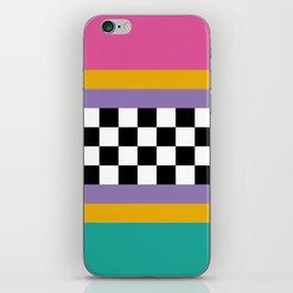 Checkered pattern grid / Vintage 80s / Retro 90s iPhone Skin