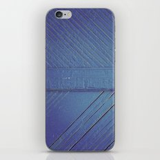 Blue Wood iPhone & iPod Skin