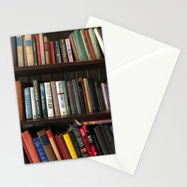 The Bookshelf in the Library Stationery Cards