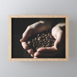 Coffee Hands Framed Mini Art Print