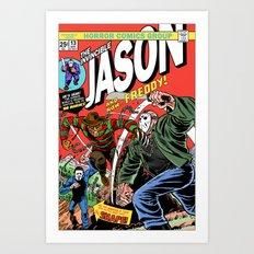 The Invincible Jason vs Freddy Art Print