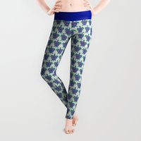 animals Leggings featuring Sea Turtle by Cat Coquillette